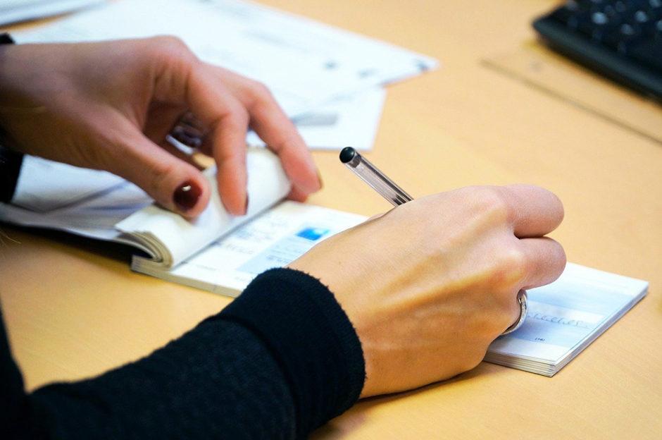 écrire un chèque